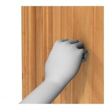 Imagen en la que se ve una mano llamando a la puerta