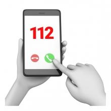 Imagen del concepto de llamar al número de emergencia 112