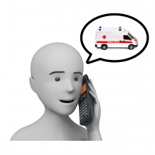Imagen en la que se ve el concepto llamar a la ambulancia