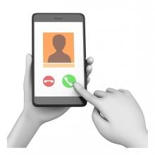 Imagen de una mano llamando por teléfono