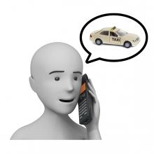 Imagen en la que se ve el concepto llamar a un taxi