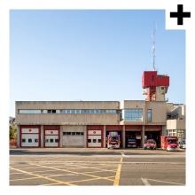 Imagen en la que se ve el plural del concepto parque de bomberos