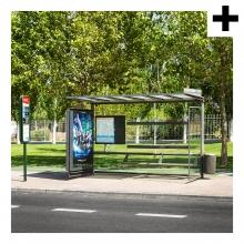 Imagen en la que se ve el plural del concepto parada de autobús