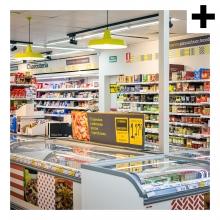 Imagen en la que se ve el plural del concepto supermercado