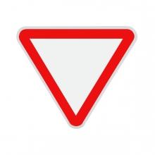 Imagen en la que se ve una señal de ceda el paso