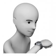 Imagen en la que se ve a una persona mirando la hora en el reloj
