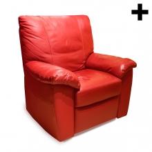 Imagen en la que se ve un sillón rojo