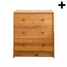 Imagen en la que se ve el plural del concepto cómoda de madera de cajones