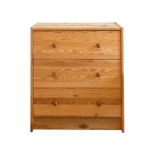 Imagen en la que se ve una cómoda de madera con cajones