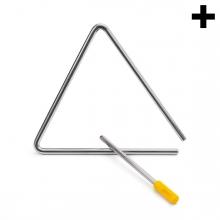 Imagen en la que se ve el plural del concepto instrumento triángulo
