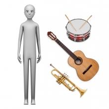 Imagen en la que se ve el concepto de músico o música