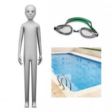 Imagen en la que se ve el concepto de nadador o nadadora