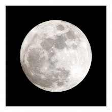 Imagen en la que se ve un primer plano de la luna llena