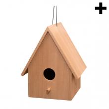 Imagen en la que se ve el plural del concepto casita para pájaros