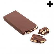 Imagen en la que se ve el plural del concepto turrón de chocolate