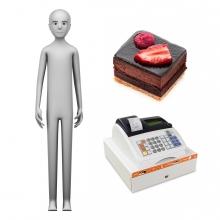 Imagen en la que se ve el concepto de pastelero o pastelera