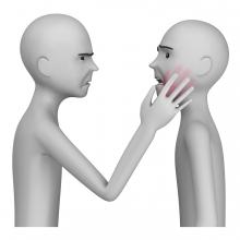 Imagen del verbo pegar