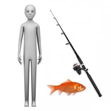 Imagen en la que se ve el concepto de pescador o pescadora