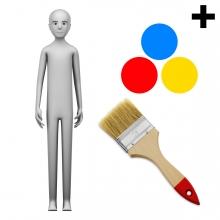 Imagen en la que se ve el plural del concepto pintor o pintora