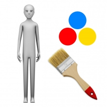 Imagen en la que se ve el concepto de pintor o pintora
