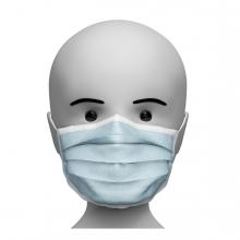 Imagen de una persona con la mascarilla quirúrgica puesta