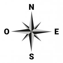 Imagen en la que se ve el concepto puntos cardinales