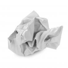 Imagen en la que se ve un papel arrugado