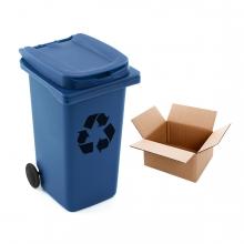 Imagen en la que se ve el concepto de reciclaje de papel