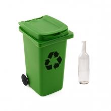 Imagen en la que se ve el concepto de reciclaje de vidrio