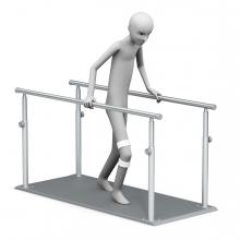 Imagen en la que aparece una persona haciendo ejercicios de rehabilitación