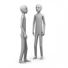 Dos personas se relacionan