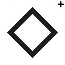 Imagen en la que se ve el plural del concepto rombo con el trazo en color negro
