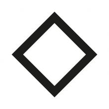 Imagen en la que se ve un rombo con el trazo en color negro