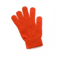 Imagen en la que se ve un único guante de color naranja