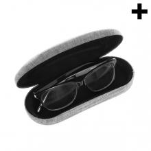 Imagen en la que se ve el plural del concepto funda de gafas