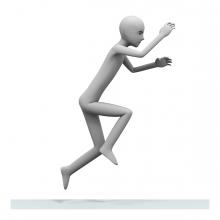 Imagen del verbo saltar