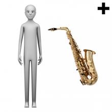 Imagen en la que se ve el plural del concepto saxofonista