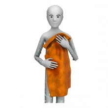 Imagen de la acción de secarse el cuerpo