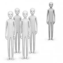 Imagen en la que se ve a una persona sola