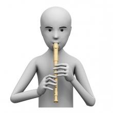 Imagen de una persona tocando la flauta