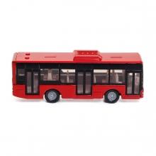 Imagen en la que se ve un autobús rojo