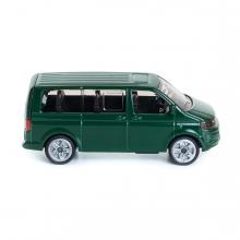 Imagen en la que se una furgoneta de pasajeros en perspectiva lateral