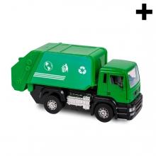 Imagen en la que se ve el plural del concepto camión de la basura