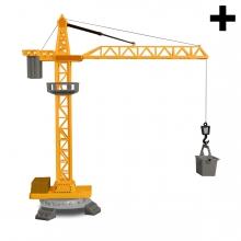Imagen en la que se ve el plural del concepto grúa de construcción