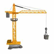 Imagen en la que se ve una grúa de construcción