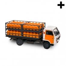 Imagen en la que se ve el plural del concepto camión del butano
