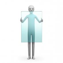 Imagen en la que se ve un objeto transparente