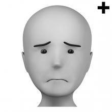 Imagen en la que se ve el plural del concepto triste
