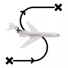Imagen en la que se ve el concepto viajar en avión