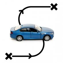 Imagen en la que se ve el concepto viajar en coche